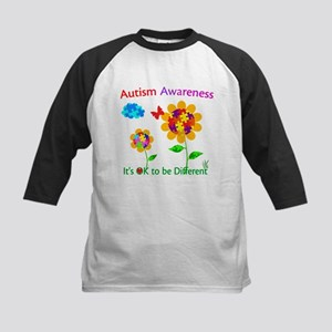 Autism Awareness Sunflower Kids Baseball Jersey