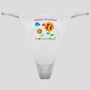 Autism Awareness Sunflower Classic Thong