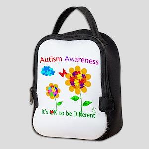 Autism Awareness Sunflower Neoprene Lunch Bag