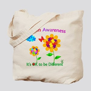 Autism Awareness Sunflower Tote Bag