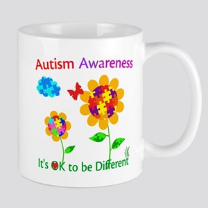 Autism Awareness Sunflower Mug