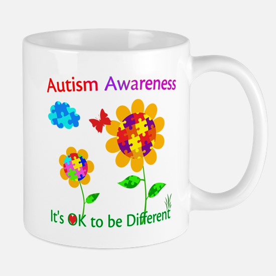 Autism Awareness Sunflower Mug