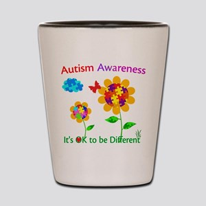 Autism Awareness Sunflower Shot Glass