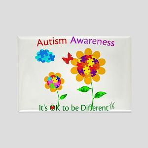 Autism Awareness Sunflower Rectangle Magnet