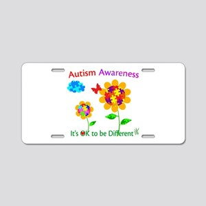 Autism Awareness Sunflower Aluminum License Plate