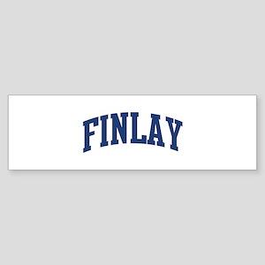 FINLAY design (blue) Bumper Sticker