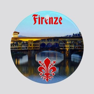 Ponte Vecchio - Florence, Italy Round Ornament