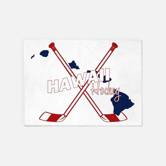 Hawaii Hockey 5'x7'Area Rug