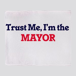 Trust me, I'm the Mayor Throw Blanket