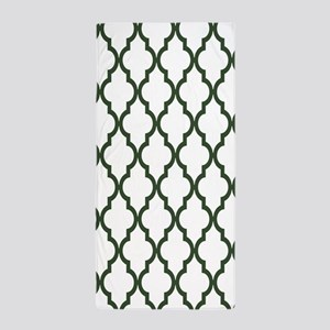 Green, Pine: Quatrefoil Moroccan Patte Beach Towel