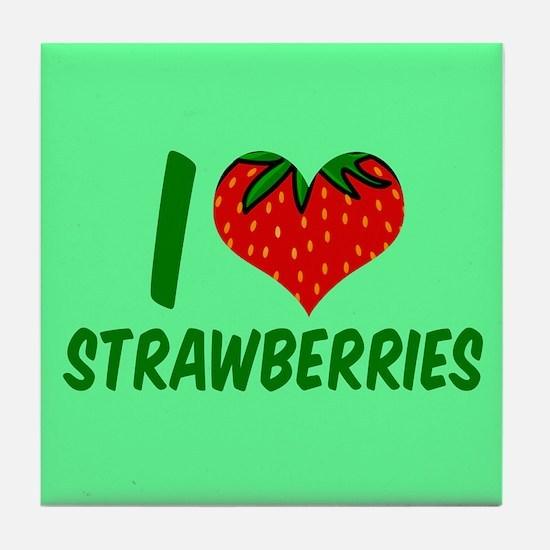 Strawberry Love Tile Coaster