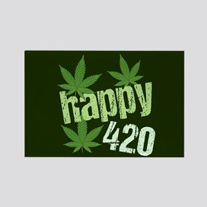Happy 420 Rectangle Magnet