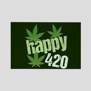 Happy 420 Rectangle Magnet