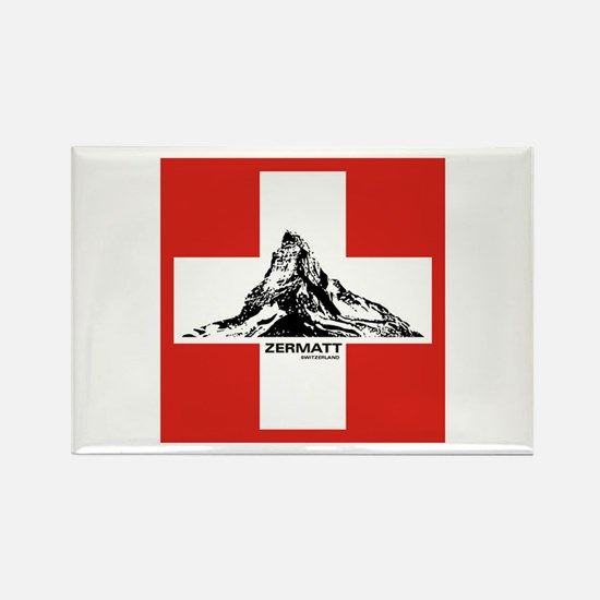 flag&mountain Rectangle Magnet