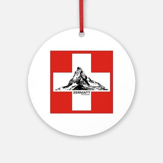 flag&mountain Ornament (Round)