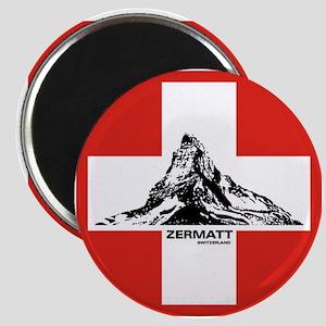 flag&mountain Magnet