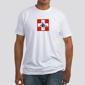 flag&mountain Fitted T-Shirt