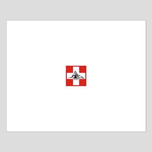 flag&mountain Small Poster