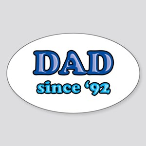 Dad Since 1992 Father's Day Oval Sticker