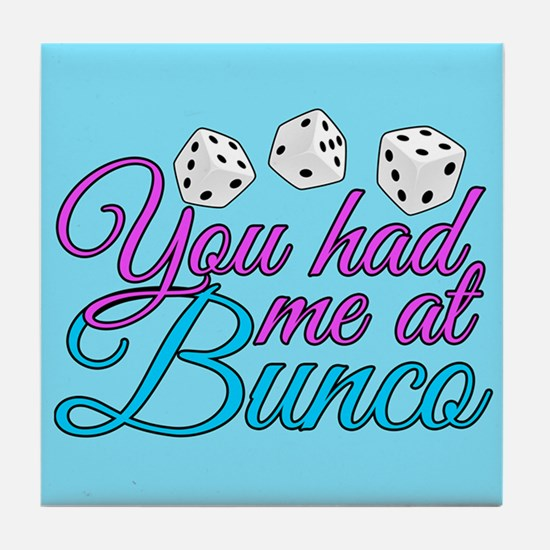 Cute Bunco Tile Coaster