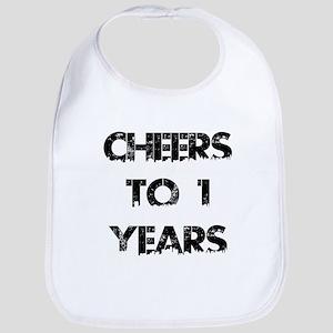 Cheers To 01 Years Designs Bib