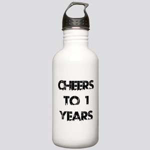 Cheers To 01 Years Des Stainless Water Bottle 1.0L