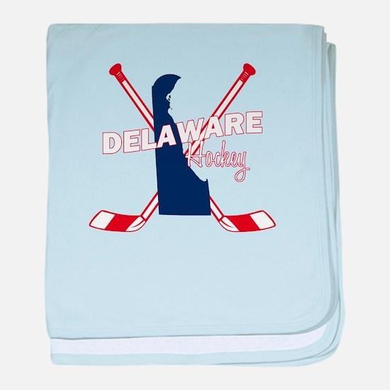 Delaware Hockey baby blanket