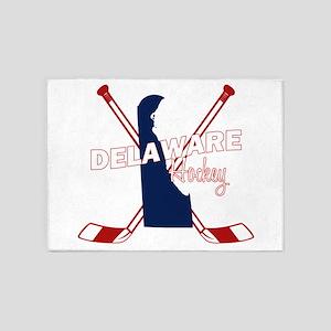 Delaware Hockey 5'x7'Area Rug