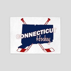 Connecticut Hockey 5'x7'Area Rug