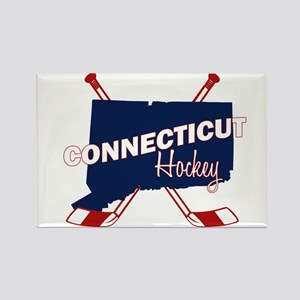 Connecticut Hockey Rectangle Magnet
