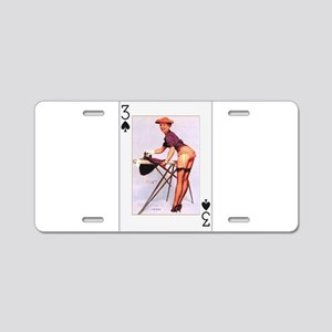 PIN-UP GIRL_PLAYING-CARDS_VINTAGE Aluminum License