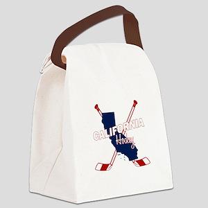 California Hockey Canvas Lunch Bag