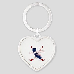 California Hockey Heart Keychain