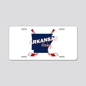 Arkansas Hockey Aluminum License Plate