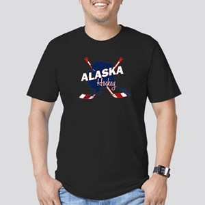 Alaska Hockey Men's Fitted T-Shirt (dark)