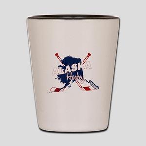 Alaska Hockey Shot Glass