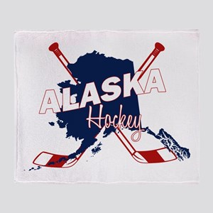 Alaska Hockey Throw Blanket