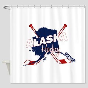 Alaska Hockey Shower Curtain