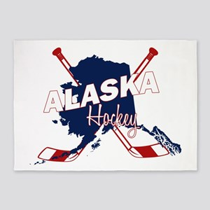 Alaska Hockey 5'x7'Area Rug