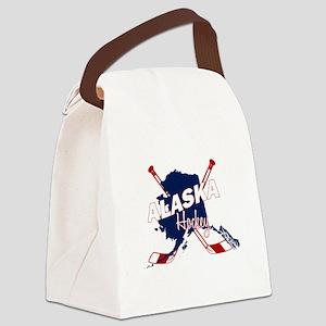 Alaska Hockey Canvas Lunch Bag