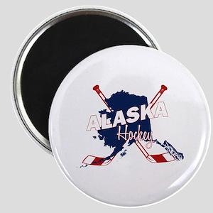 Alaska Hockey Magnet