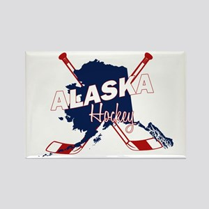 Alaska Hockey Rectangle Magnet