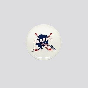 Alaska Hockey Mini Button