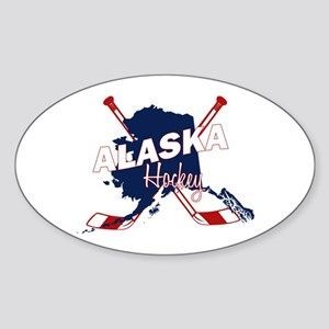 Alaska Hockey Sticker (Oval)
