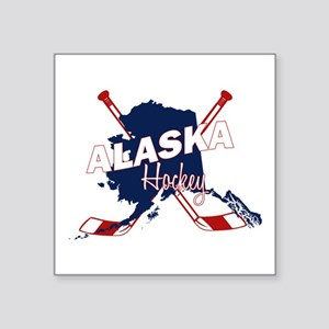 "Alaska Hockey Square Sticker 3"" x 3"""