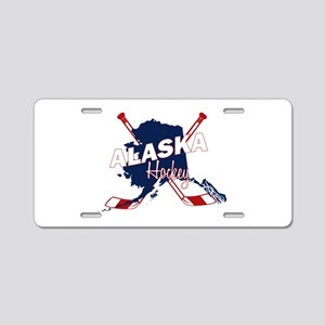 Alaska Hockey Aluminum License Plate