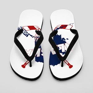 Alaska Hockey Flip Flops