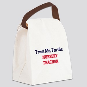 Trust me, I'm the Nursery Teacher Canvas Lunch Bag