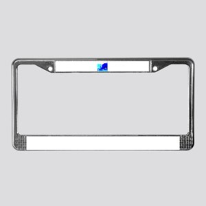 High tech surf License Plate Frame