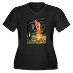 Midsummer / G Dane Women's Plus Size V-Neck Dark T